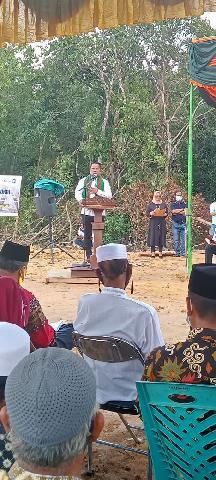 Peletakan Tiang Pancang Pembangunan Jembatan Tambak-Sotol Oleh Zukri Bupati Pelalawan