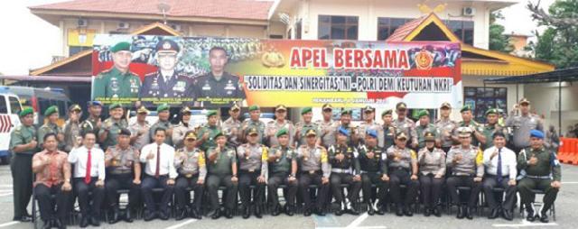 TNI-Polri Apel Bersama