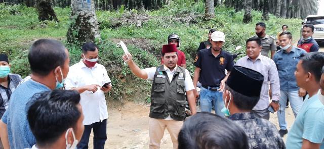Wabup H.Nasaruddin Tinjau Akses Jalan Yang Akan Di Bangun Dibandar Petalangan